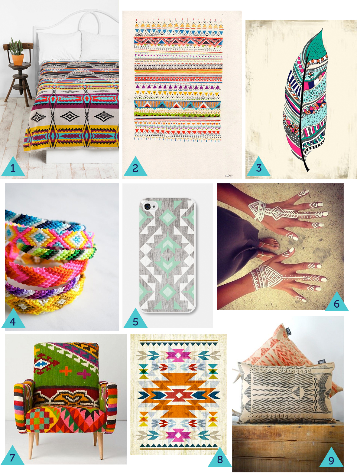 A collection of native an tribal inspired products