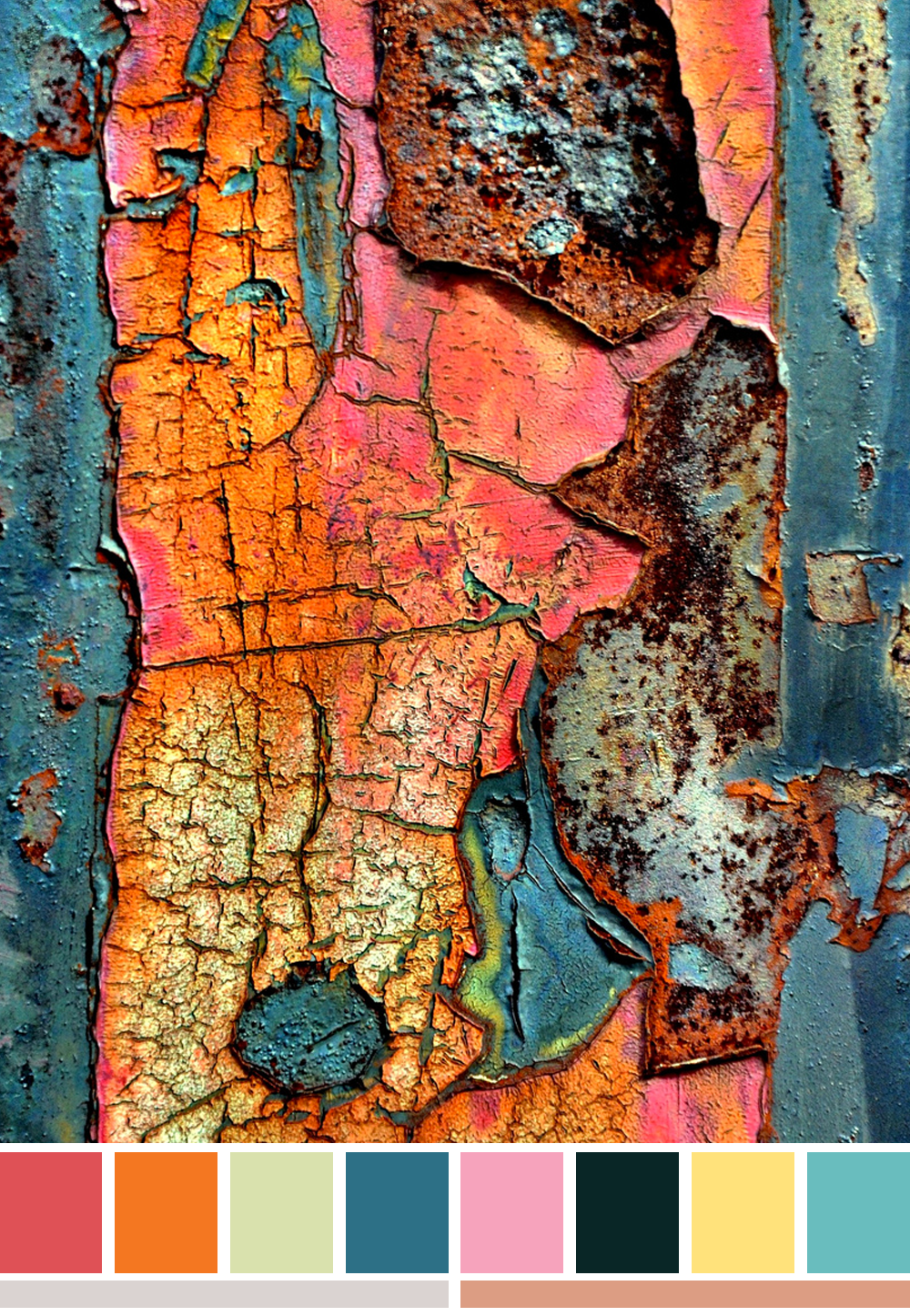 Image of rust texture with matching colour palette