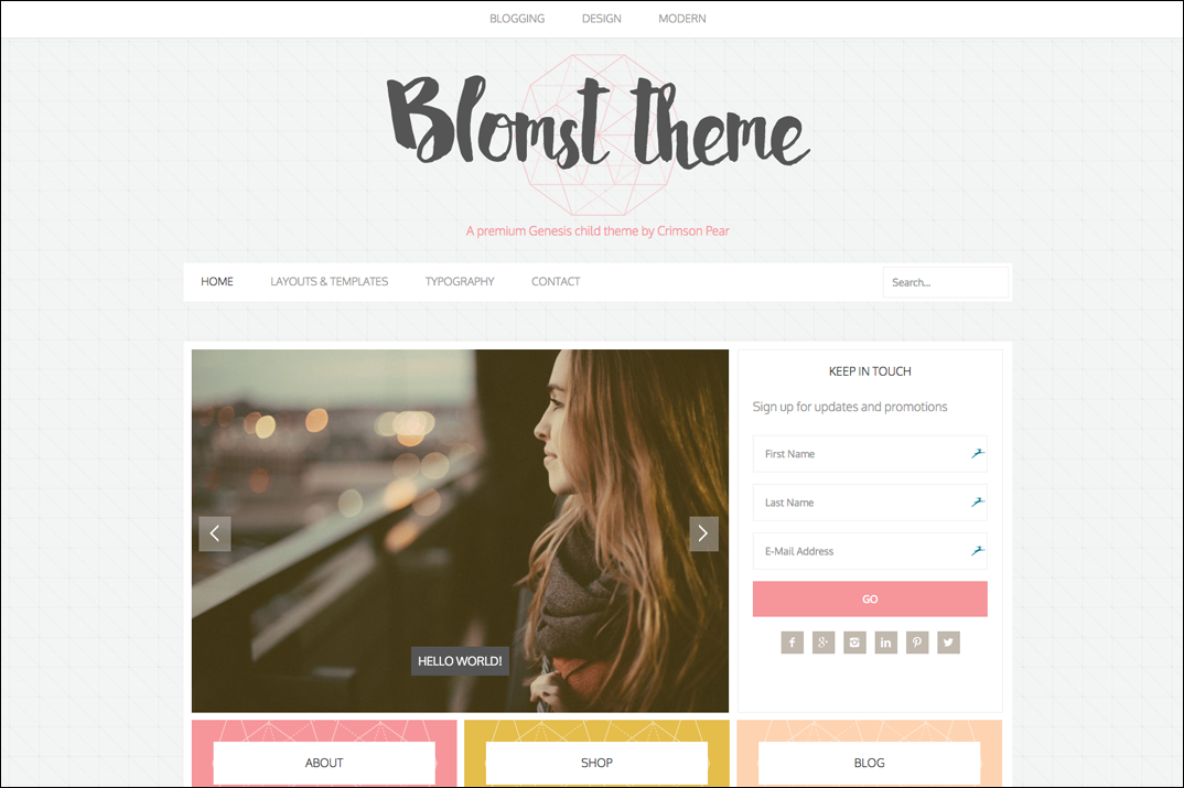 Blomst theme screenshot